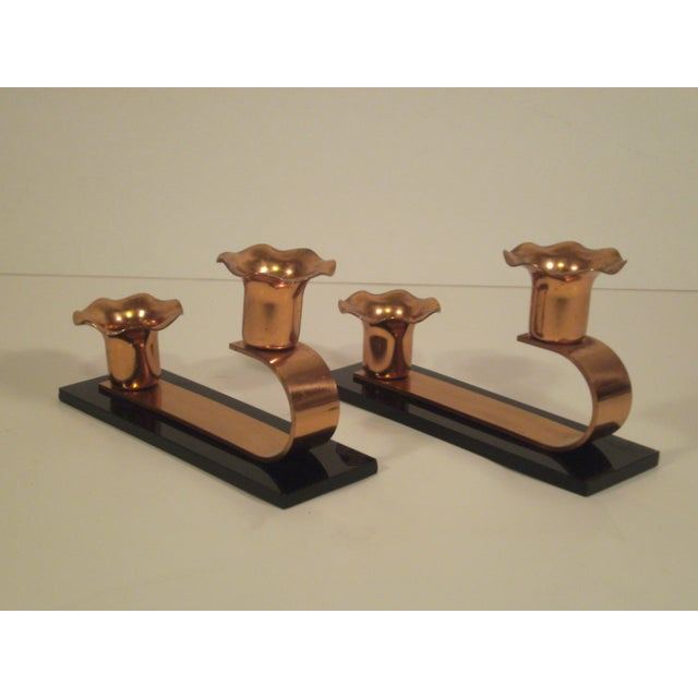 Vintage Copper & Plexiglass Candle Holders - Pair - Image 2 of 8