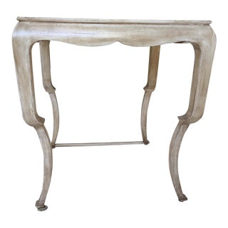 Beige Nancy Corzine Wood Side Table