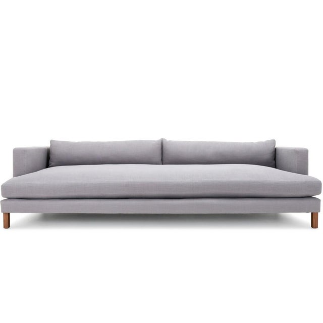 Clad Home Modern Low Profile Linen Sofa - Image 5 of 5