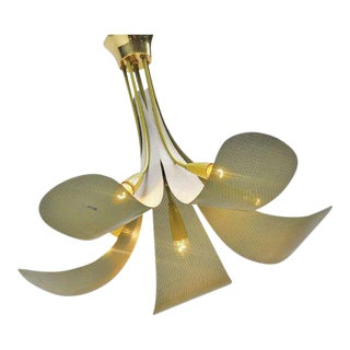French Ceiling Lamp in the Manner of Mategot, 1950