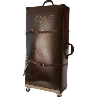 Vintage Black Rolling Suitcase