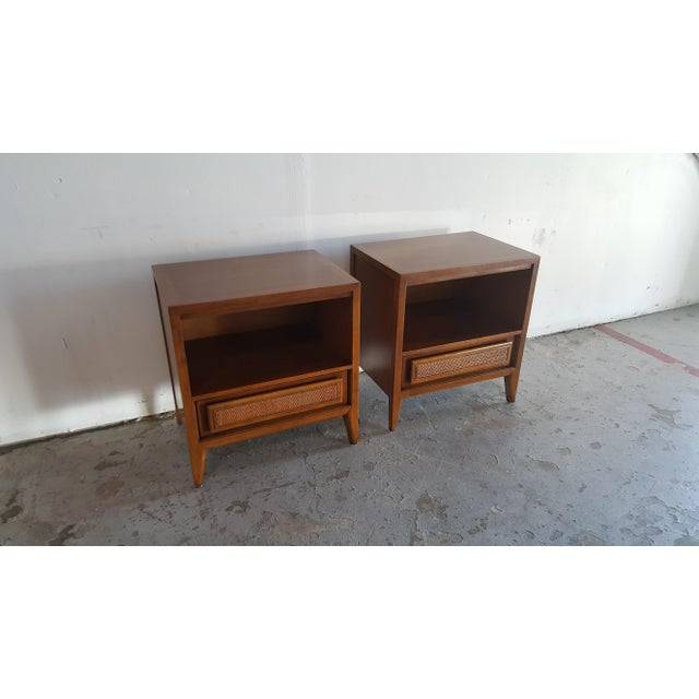 Vintage Mid-Century Nightstands by Century - Pair - Image 6 of 10