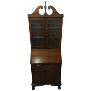 Solid Mahogany Secretary Desk