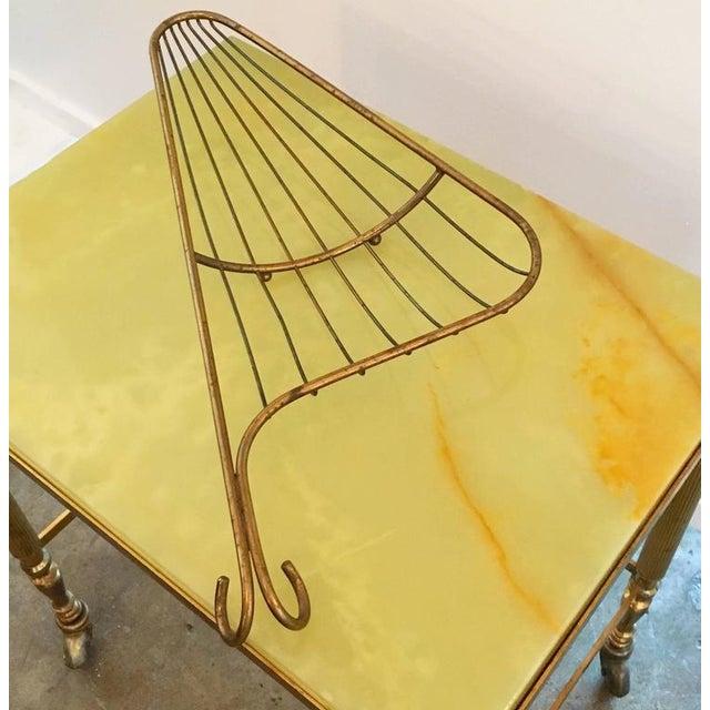 Mid Century Modern Aldo Tura Bronze Bread Basket - Image 3 of 5