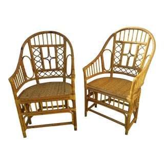 Brighton Pavilion Tortoise Bamboo Chairs - A Pair