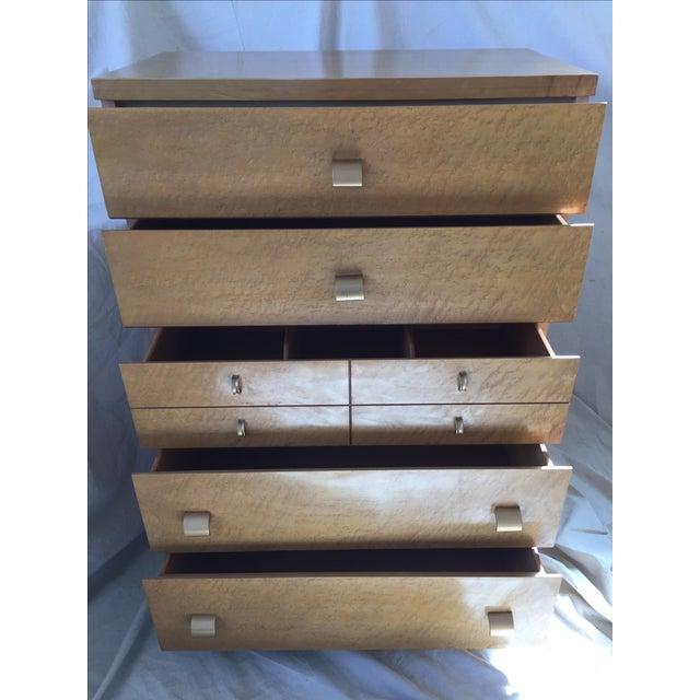 1950s Birdseye Maple Tallboy Dresser - Image 3 of 9