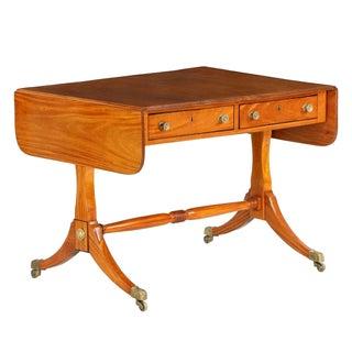 English Regency Satinwood Sofa Table