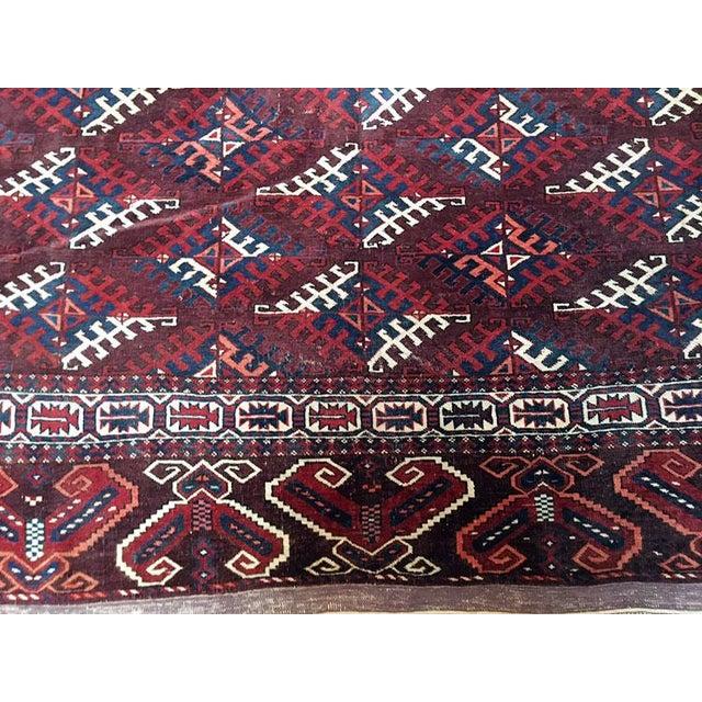 Antique Turkoman Rug: Antique Tribal Yomut /Turkoman Rug - 6′3″ × 11′