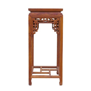 Chinese Huali Rosewood Square Pedestal Plant Stand