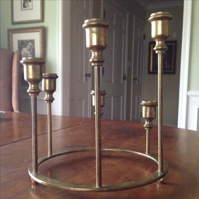 Image of Vintage Brass Circular Candleholder