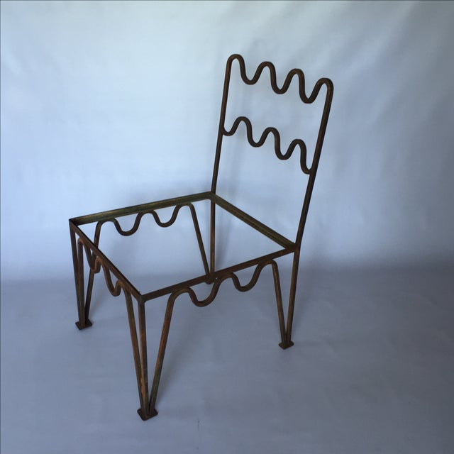 1940s Sculptural Modernist Iron Patio Chairs - 4 - Image 3 of 11