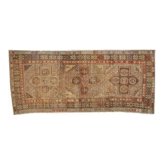 "Vintage Distressed Anatolian Rug Runner - 4'7"" x 10'3"""