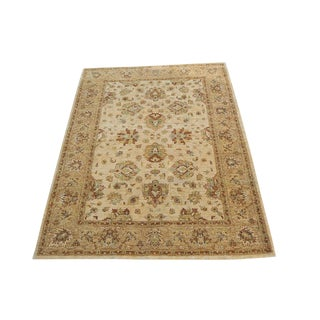 Sultan Abad Afghani Hand Knotted Rug- 4′11″ × 6′7″