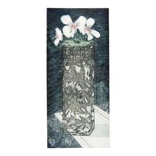 E. S. Bufano Crystal Vase Etching