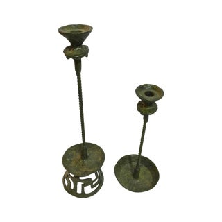Mid-Century Style Candlesticks - A Pair