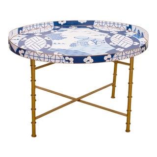 Dana Gibson Canton in Blue Coffee Table