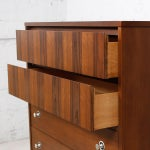 "Image of Walnut & Rosewood Tall Chest W/ ""Radio Knob"" Pulls"