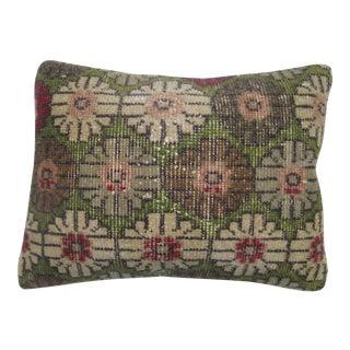 Turkish Konya Green Rug Pillow