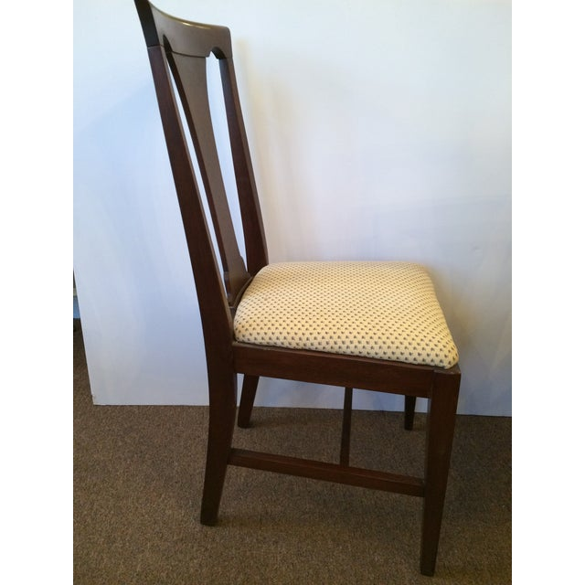 Mahogany Dining Chairs with Slip Seats - Set of 6 - Image 7 of 7