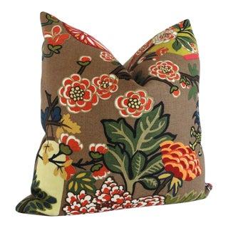 "Mocha Schumacher Chiang Mai Dragon Decorative Pillow Cover - 20"" x 20"""