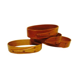 Handcrafted Shaker Oval Napkin Rings - Set of 4