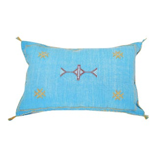 Moroccan Berber Turquoise Sabra Throw Pillow
