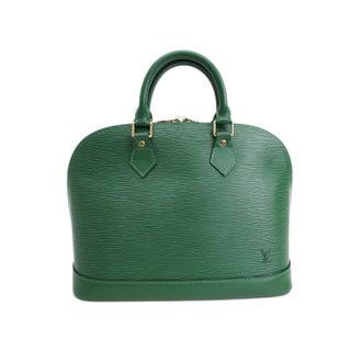 Louis Vuitton Green Alma Handbag