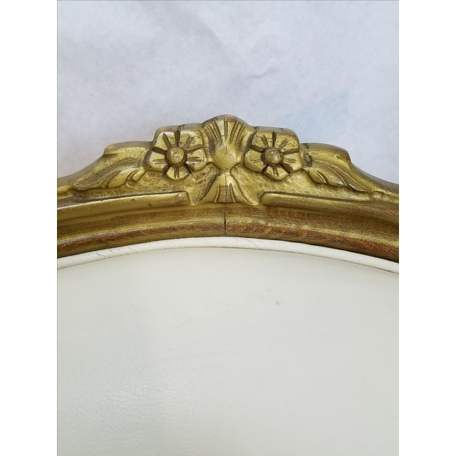 Ivory Leather Bergere Club Chairs - A Pair - Image 6 of 6