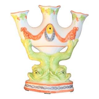 Italian Ceramic Mottahedeh Dolphin Tulip Vase