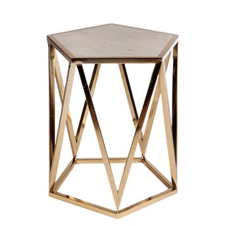Charlyn Marble Top Side Table