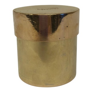 Circa 1925 Solid Brass Canister With Lid