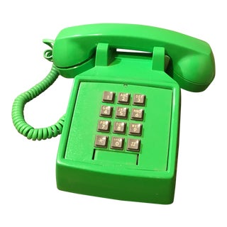 Vintage Lime Green Telephone