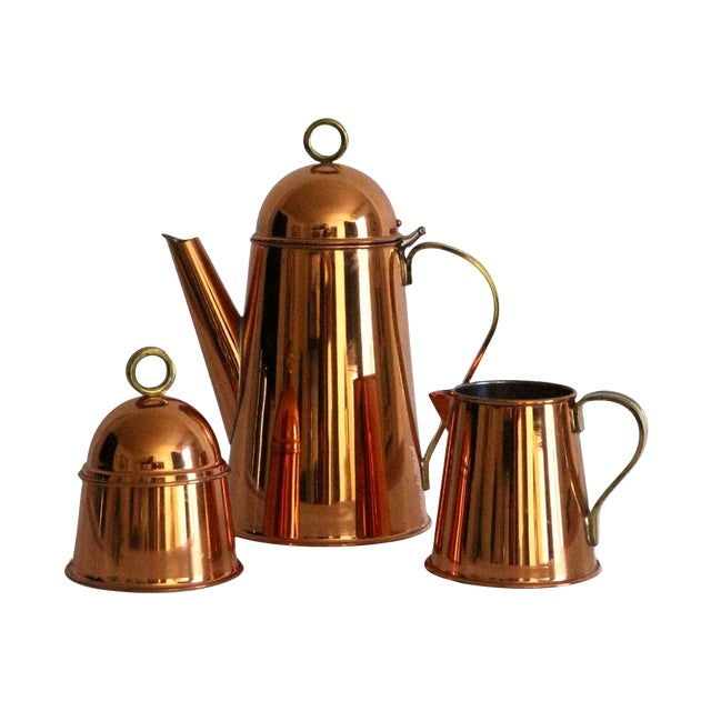Copper Coffee Service - Set of 3 - Image 1 of 8