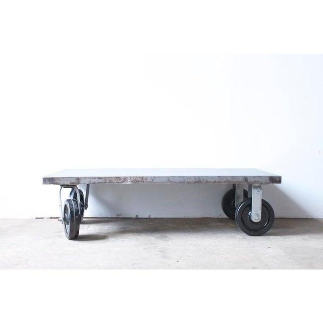 Industrial Metal Coffee Table - Image 4 of 7