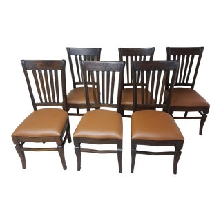 Teak Wood Classic Dining Chairs - Set of 6