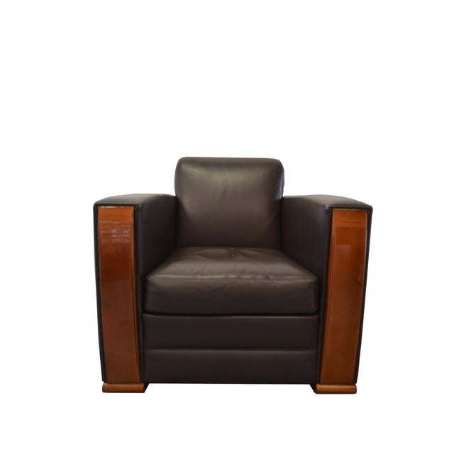 """""""Pullman"""" Club Chair by Hugues Chevalier - Image 4 of 7"""