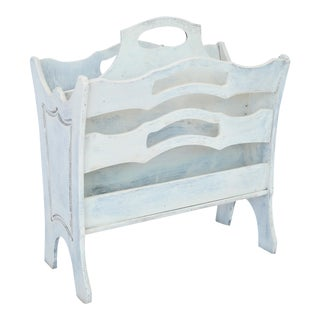 White Painted Magazine Rack