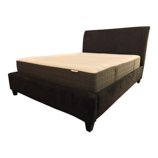 Crate & Barrel Upholstered Queen Bed Frame