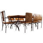 Image of Rustic Reclaimed Wood Dining Set