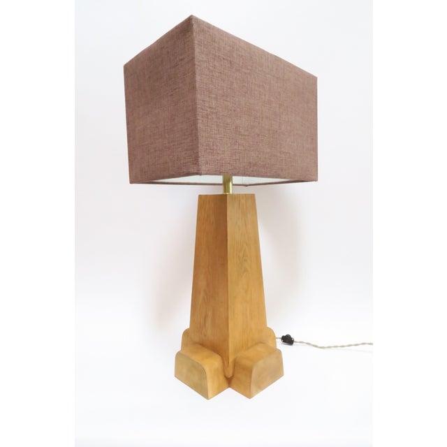 Martin & Brockett Cross Base Pine Table Lamp - Image 3 of 6