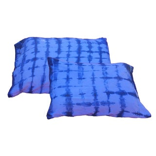 Indigo Shibori Standard Pillow Shams - A Pair