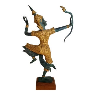 Bronze & Gilt Thai Rama Statue