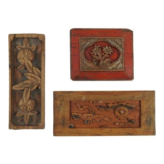 Grouping Chinese Carved Panels - Set of 3