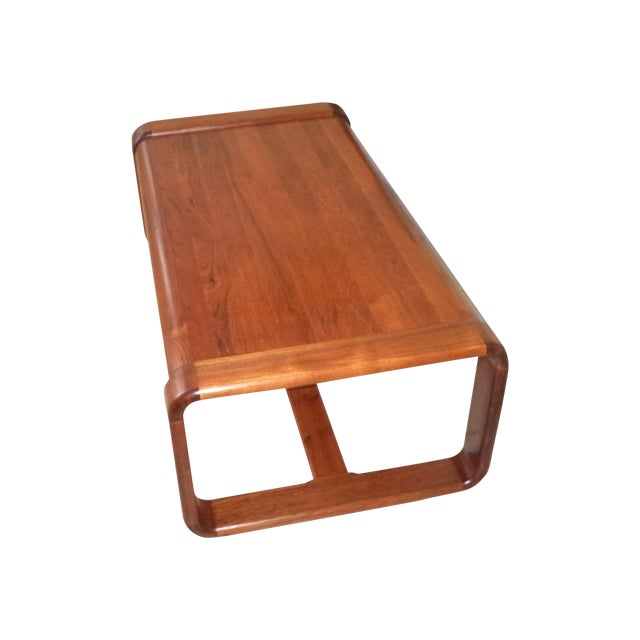Classic solid teak coffee table chairish Solid teak coffee table