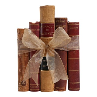 Antique Leather Book Gift Set, S/5