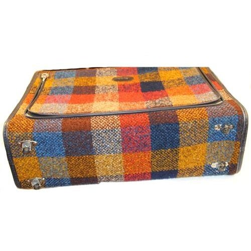 Vintage Bright Chenille Skyway Suitcase - Image 3 of 10