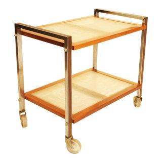 Mid Century Danish Modern Teak Bar Cart