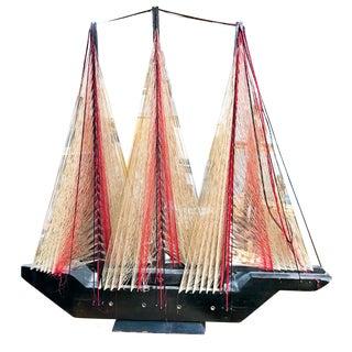 Large Mid Century Nautical Ship Model