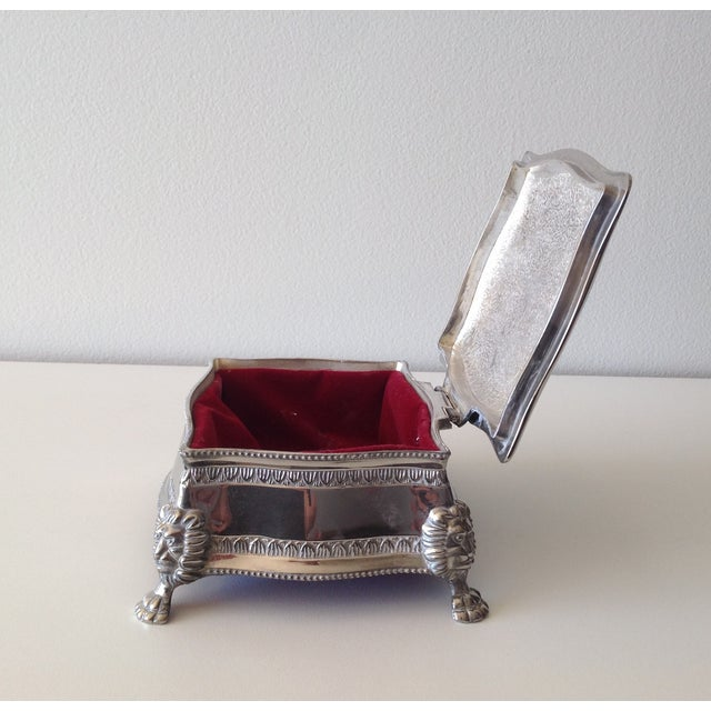 Silver Plated Lion-Footed Engraved Keepsake Box - Image 11 of 11