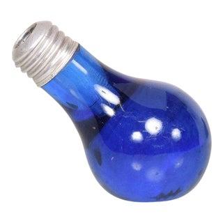 Mid-Century Modern Cobalt Blue Bulb Murano Paper Weight